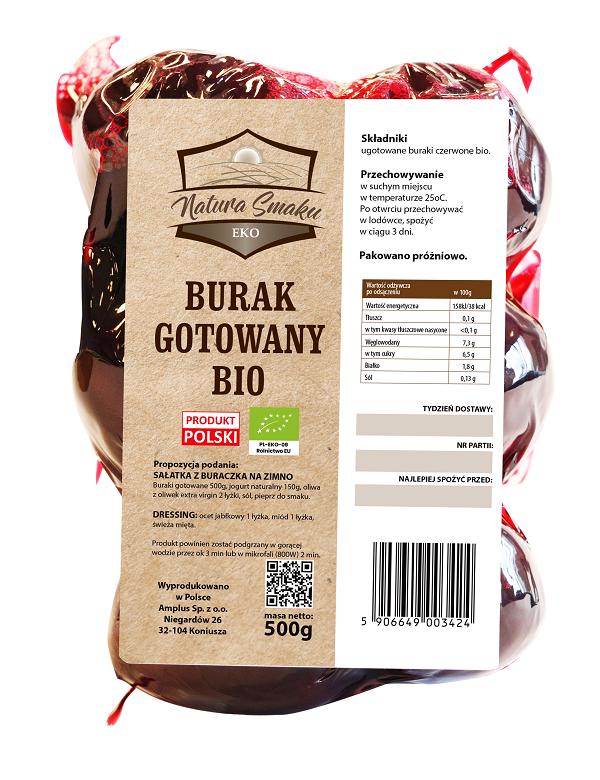 Burak gotowany bio - Natura Smaku